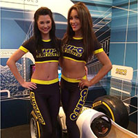 Gorgeous grid girls and promotional models available for hire