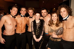 hire hot topless butlers