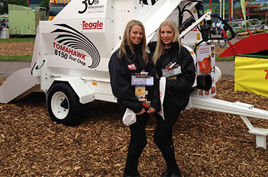 Two promotional girls obtaining lead generation