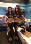 hostesses for hire at the London Motorcycle Show