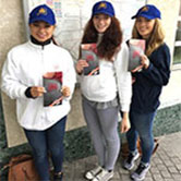 Team of staff employed to hand out promotional leaflets