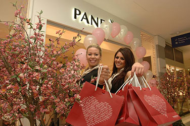 Gorgeous promotional models provided to Pandora in London