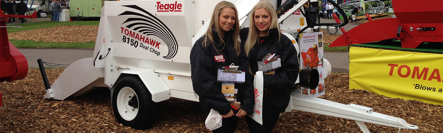 Two lead generation staff at promotional event