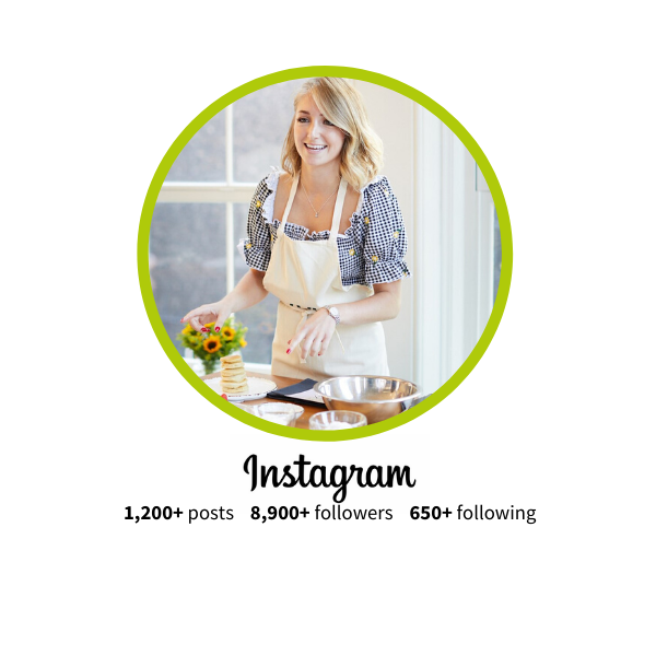 Instagram Food or product influencer