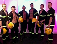 promotional models glasgow, hunky topless butlers glasgow